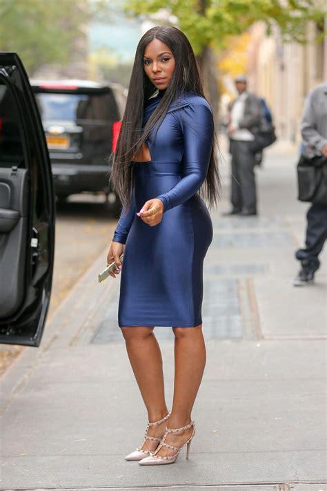 Ashanty Dress ashanti in blue dress the view in new york city
