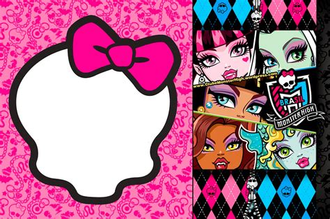 monster high printable party decorations monster high invitations and party free printables oh