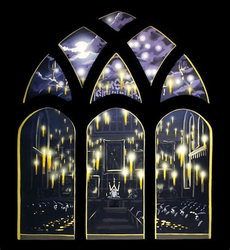 Wall Mural For Bedroom the great hall with floating candles this would make a