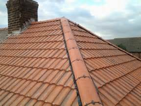 All new tiled roof amp dry ridge tile system new lead flashing to