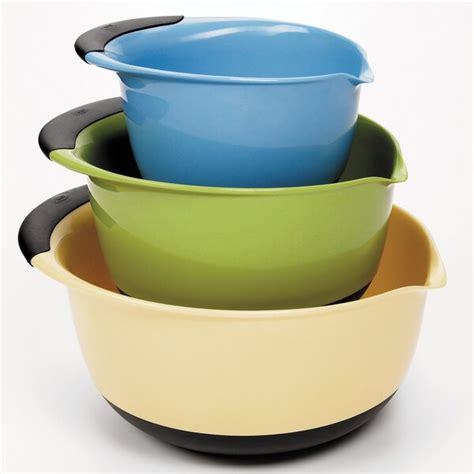 oxo good grips  piece plastic mixing bowl set reviews