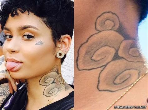 kehlani waves neck tattoo steal her style