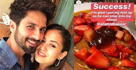 shahid kapoor turns chef  wife mira rajput cooks