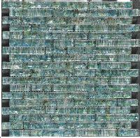 1sf carrara white marble mint glass random linear mosaic 1sf blue recycle glass mosaic tile backsplash kitchen wall