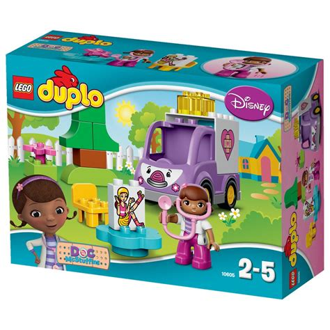 Doc Mcstuffins Rosie The Ambulance Lego Duplo Disney 10605 lego duplo doc mcstuffins rosie the ambulance 10605 toys zavvi