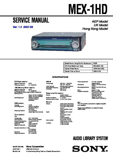 sony cdx sw200 wiring harness diagram wiring diagram