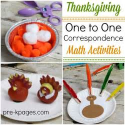 what is thanksgiving for kindergarten thanksgiving one to one correspondence activities