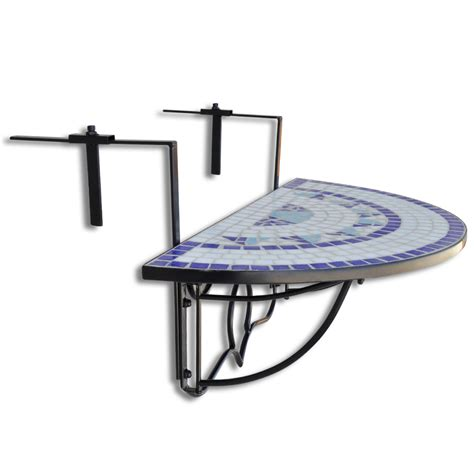 Hanging Table by Vidaxl Co Uk Mosaic Balcony Table Hanging Semi Circular