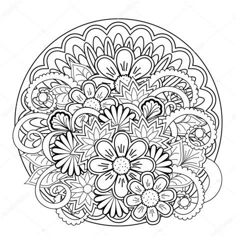 imagenes de mandalas rosas mandalas y flores de enredo de doodle archivo im 225 genes