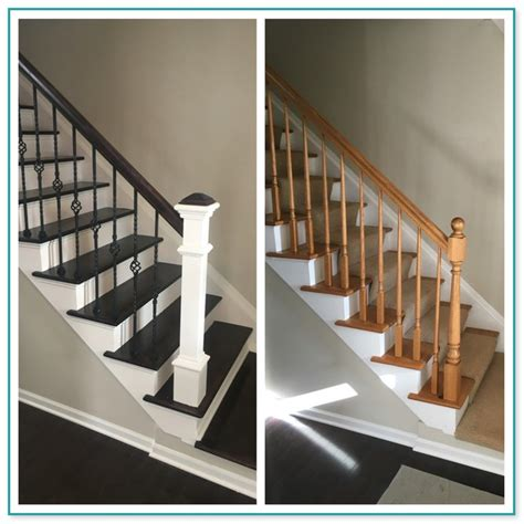 replacing banisters replacing spindles on carpeted stairs