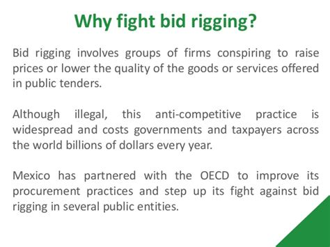 bid rigging fighting bid rigging in procurement a review of