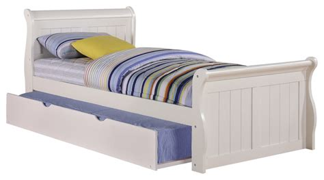 roll out beds twin sleigh bed with roll out trundle traditional kids