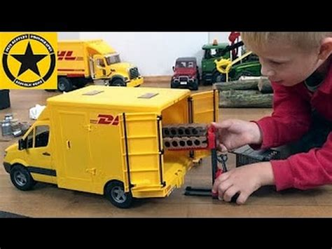 bruder toys mercedes bruder toys trucks mercedes sprinter dhl unboxing and