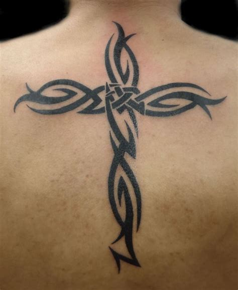 cross tattoos for men on back best 25 tribal cross tattoos ideas on cross