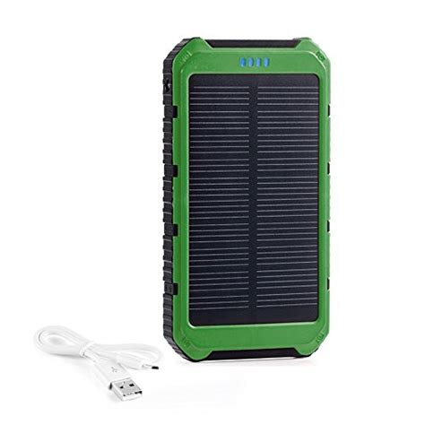 battery pack for outdoor lights fkant 10000mah portable solar phone charger external