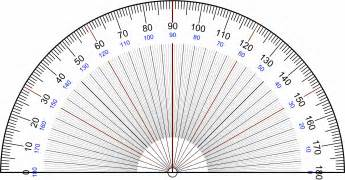 Protractor Template by Printable Protractor 90 Degrees