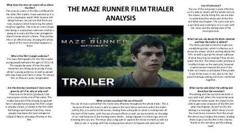 the maze runner trailer analysis