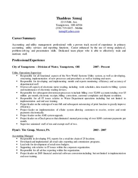 Ted Resume by Ted Szmaj Resume