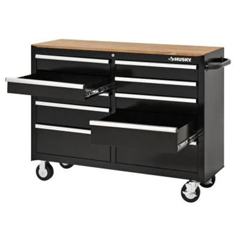 Husky 52 In Pegboard Back Wall For Tool Cabinet Black by Husky 52 In 10 Drawer Solid Front Mobile Tool Chest