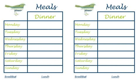 30 Family Meal Planning Templates Weekly Monthly Budget Tip Junkie Family Meal Planner Template