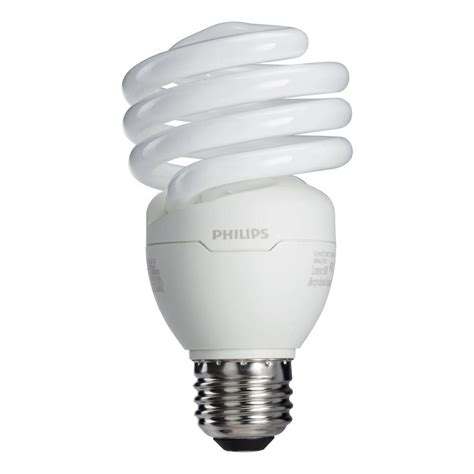 white light light bulbs philips 100w equivalent white 2700k t2 spiral cfl