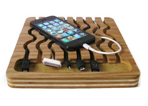 Bedside Table Charging Station by Wood Plans Charging Station
