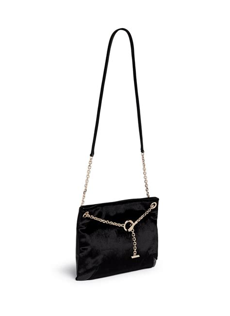 Jimmy Choo Ring Shoulder Bag by Lyst Jimmy Choo Alexia Convertible Chain Velvet
