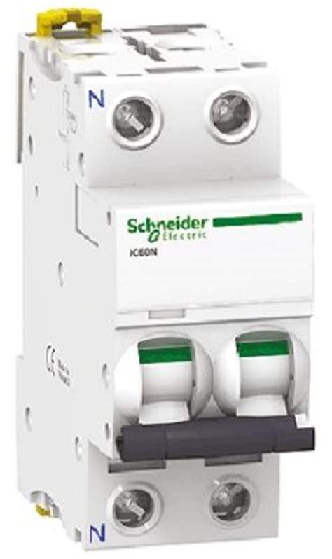 Mcb Ic60n 2p50a 6ka Schneider a9f04201 acti 9 ic60n mcb 2p 1 a 6 ka curve c