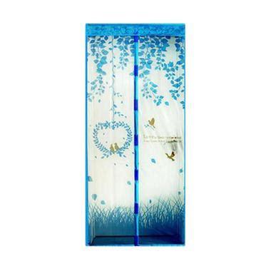 Tirai Magnet Motif jual home klik motif bird tirai magnet anti nyamuk biru harga kualitas terjamin