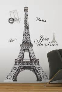 Paris Themed Wall Murals paris france eiffel tower wall art mural peel amp stick