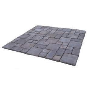 Home Depot Patio Pavers Cass 100 Sq Ft Gray Concrete Paver Kit Cassg The Home Depot