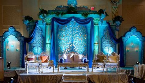 Home Ganpati Decoration Peacock Themed Weddings At Banquet Halls In Delhi