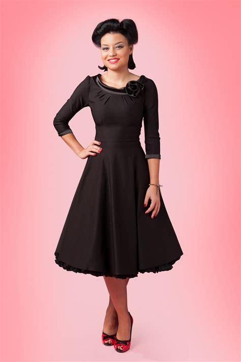 50s swing 50s first lady swing dress black