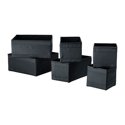 ikea skubb skubb box set of 6 black ikea