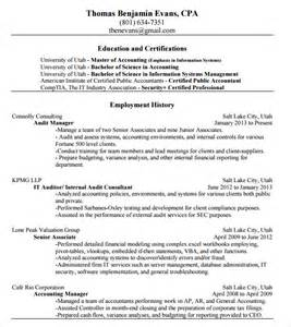 Cpa Resume Templates by Accounting Resume 9 Free Sles Exles Format
