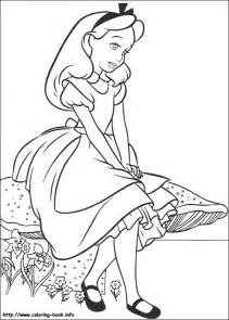 alice colouring pages