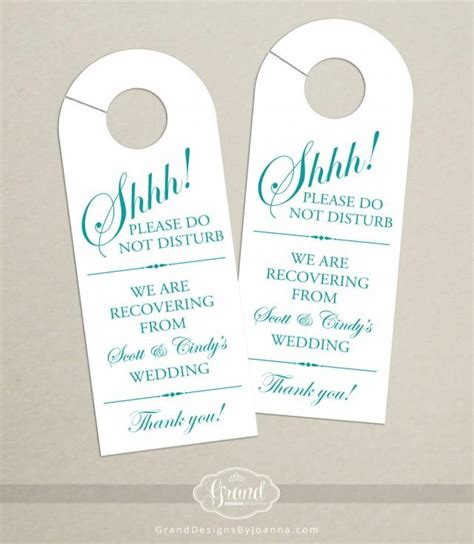 wedding door hangers template set of 10 door hanger for wedding hotel welcome bag do