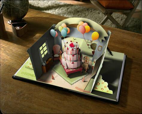 cara membuat kartu ucapan pop up ulang tahun kue kertas tjahpopup