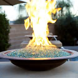 Indoor Gas Fire Pits - fire bowl for tabletop or custom structure sunburst glass