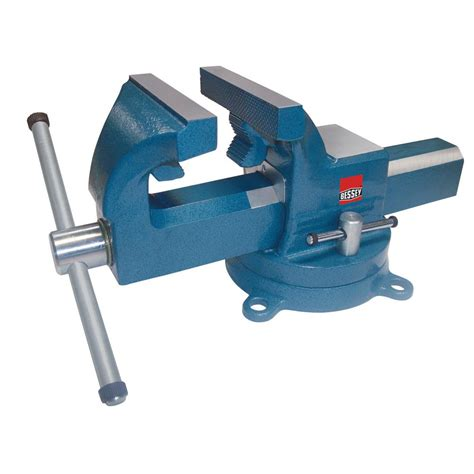 picture of bench vice bessey 8 in drop forged bench vise with swivel base bv df8sb the home depot