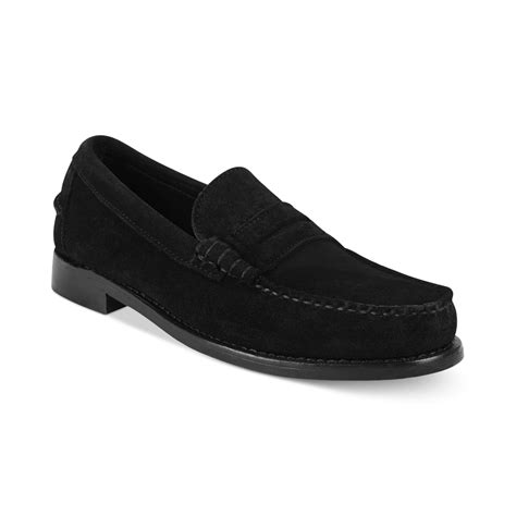 sebago loafers sebago classic loafers in black for lyst