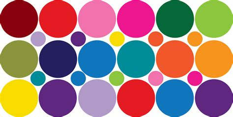 Home Wall Mural colorful dots decal nursery wall decal murals primedecals