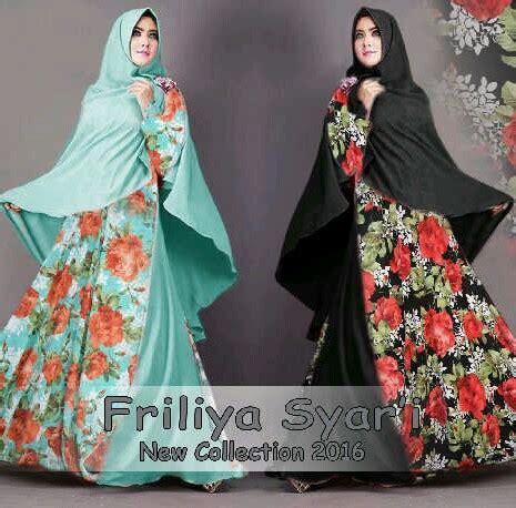 Gamis Kaktisa Khimar Square baju gamis modern friliya syari b029 busana muslim terbaru