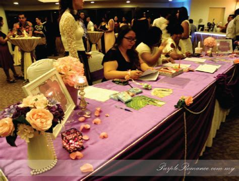 Purple & White Wedding Decoration @ Banquet Hall Royal