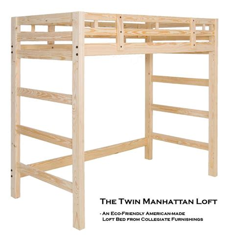 Unfinished Bunk Bed Manhattan Loft Solid Pine Bed By Collegiate Furnishings