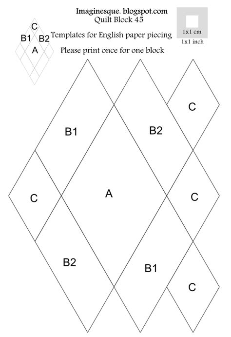 best photos of printable english paper piecing templates