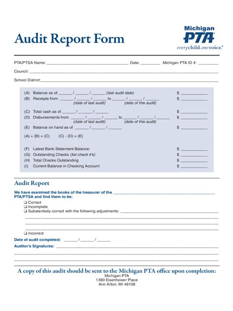 audit report template audit report 6 free templates in pdf word excel