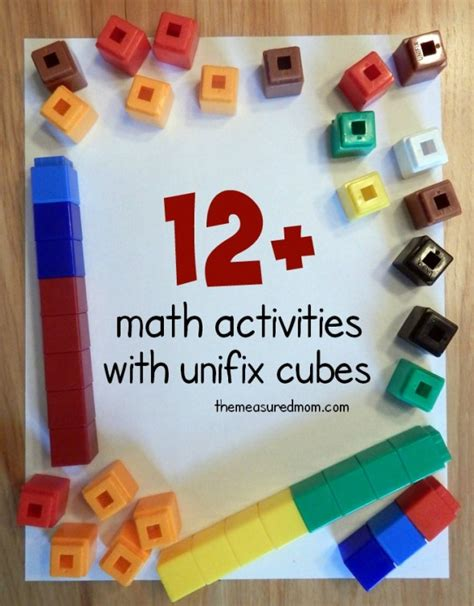 More From 12 by Math Activities With Unifix Cubes The Measured