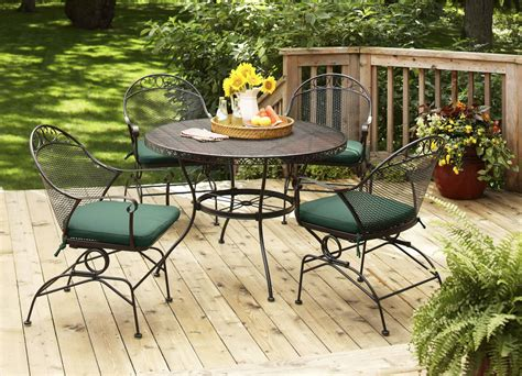 Weatherproof Patio Furniture Sets Brand New Outdoor Gardens Clayton Court 5 Patio Dining Set Green Seats 4 Ebay