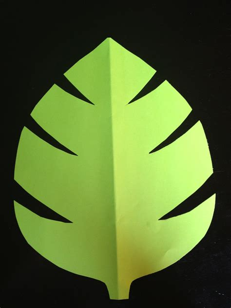 paper leaf template from becca s home to yours with throwing a jungle